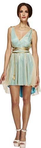 Smiffy's Women's Fever Grecian Queen Costume, Dress and Belt, Legends, Fever, Size 6-8, 27894 (Grecian Dress Costume)