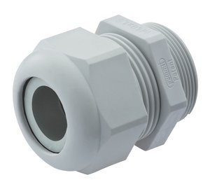 0.08'' - 0.24'' Range 3/8'' NPT Gray Nylon Dome/Liquid Tight Cable Strain Relief Fitting, Pack of 10 by Sealcon