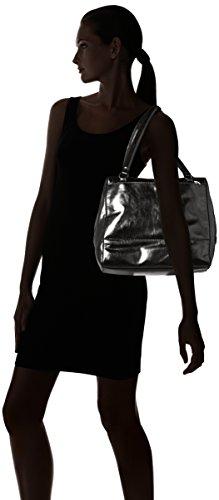 Liebeskind Berlin Mesaw7 Memila - Shoppers y bolsos de hombro Mujer Plateado (Rock Grey Metallic)