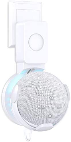 Cocoda Outlet Wall Mount Holder for Echo Dot 4th Generation, A Space-Saving Solution for Your Smart Home Speakers, Clever Accessories with Cord Arrangement Hide Messy Wires