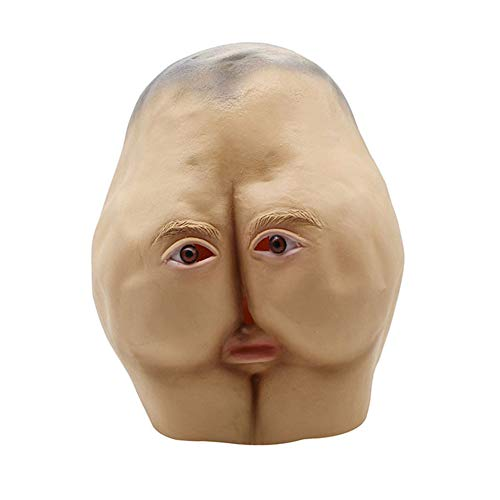 Jfk Halloween Costumes - Latex Butt Head mask Adult Ass