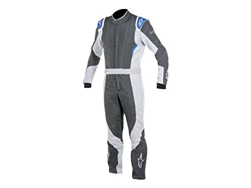 Alpinestars GP PRO Suit (Anthracite/Steel Gray/Blue, Size 52)