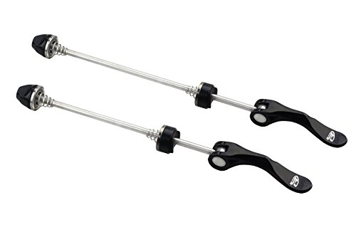 BeeChamp 1 Pair Stainless Steel Bicycle Wheel Skewers, Road Bike MTB Quick Release Axle Bolt Set (black) (Quick Release Front Axle)