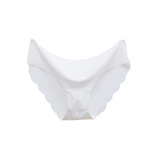 Meijunter 2Pcs Damen Simple Niedrige Taille Unterwäsche Seide Ultra dünn Atmungsaktiv Slip White 5efSP