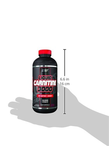 Nutrex Research Liquid 3,000 Carnitine Supplement, Berry Blast, 16 Fluid Ounce