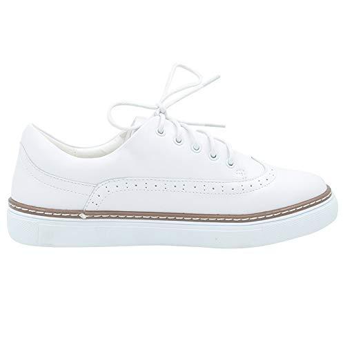 de con de white de Zapatos Respirables Zapatos Cordones de Zapatos de Encaje Cuero Mujeres Las Las señoras Ocasionales Planos GUNAINDMX Las Mujeres YgpqwcH