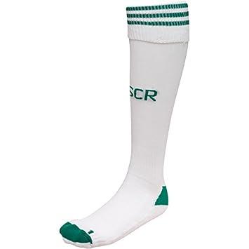 Adidas - Calcetines de fútbol con 3 Rayas, Color Blanco y Verde: Amazon.es: Deportes y aire libre