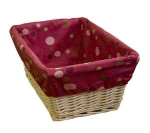 Lambs and Ivy Swirl Basket with Liner, Raspberry, Baby & Kids Zone