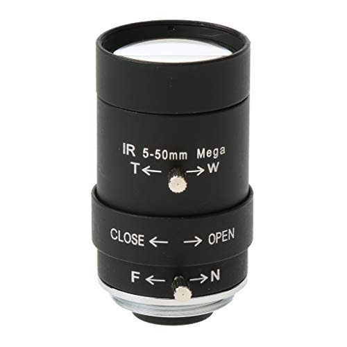 Prettyia CCTV Security Camera 5-50mm Varifocal Lens Manual IRIS CS Mount Format 1/3