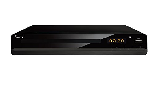 Impecca DVHP9117 Progressive Scan Compact HDMI DVD Player, Upconvert DVDs to 1080p, With LED Display, View Content Via USB Input, (Dvd Player Recordable)