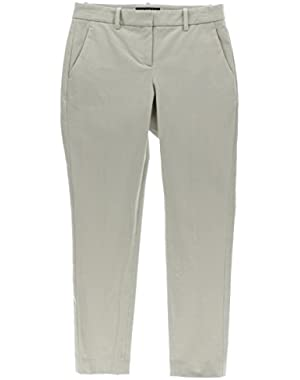 Theory Womens Twill Flat Front Casual Pants