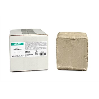 AMACO 25 -Pound Air Dry Clay, Moist, Gray by AMACO