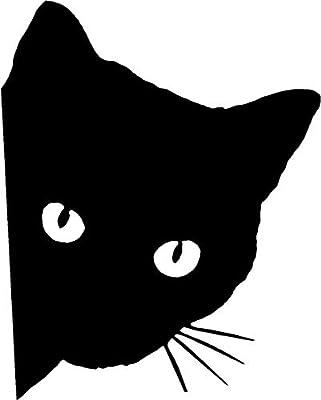 Bathroom Toilet Sticker Decal - Cat Peeking - Funny Fun Bathroom Decals