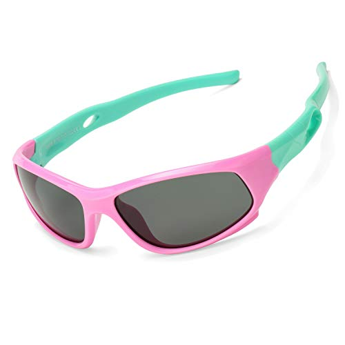 Pro Acme TR90 Unbreakable Polarized Sports Sunglasses for Kids Boys and Girls ()
