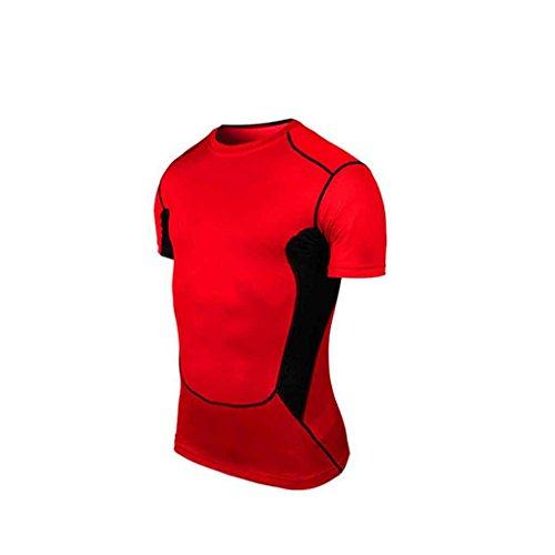 Pied Basketball Rapide Manuelle Mengonee Course ¨¤ Xl Chemise Courtes Manches Compression Rouge Coupe amp; Pour La Football Cyclisme SqPwqg