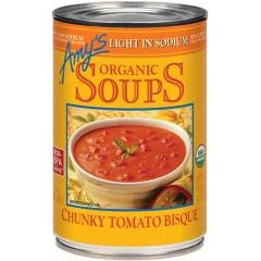 Amy's - Light In Sodium Chunky Tomato Bisque (3-14.5 oz cans) - Smooth Creamy Tomato