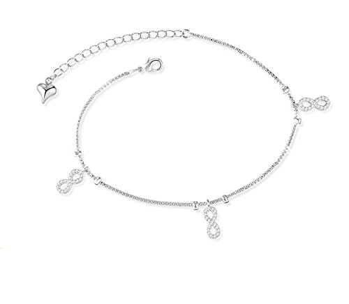 Bishilin Ankle Bracelet Ocean Circle anklet infinity 26 CM by Bishilin