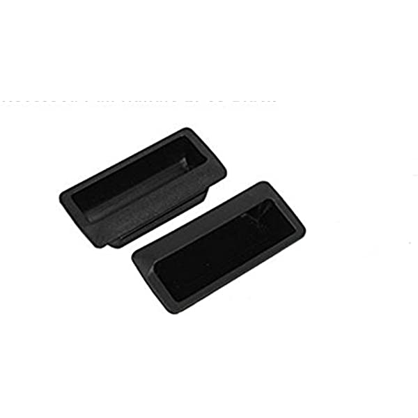 105mmx45mm Rectangle White Plastic Drawer Door Flush Pull Handle