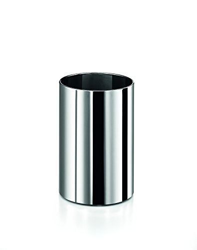 LB Round Open Top Stainless Steel Wastebasket W/O Lid Cover, Polished (Chrome Round Wastebasket)