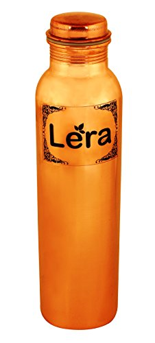 Lera 1000Ml Pure Copper Water Bottles Is Leak Proof & Joint Free For Ayurvedic Health Benefits (Tamara Jal) By Lera (Available In Combo Of 2, 3 &4) (1 (Bone Bottle)
