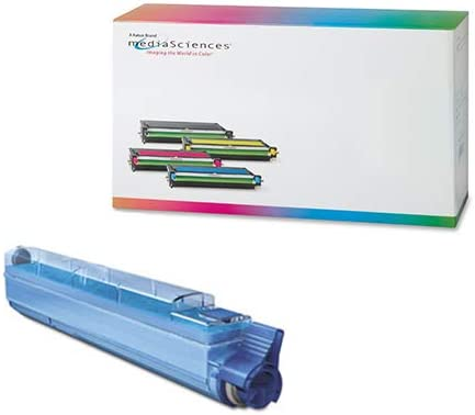 18000 Page Yield Media Sciences MSWX74C-HC Cyan Toner Cartridge Equivalent to Xerox 106R01077