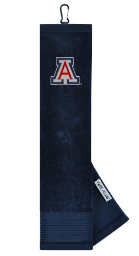 Wildcats Embroidered Tri Fold - Arizona Wildcats Face/Club Embroidered Towel