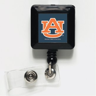 - WinCraft Auburn Tigers Official NCAA 1 inch x 1 inch Retractable Badge Holder Key Chain Keychain by 254184