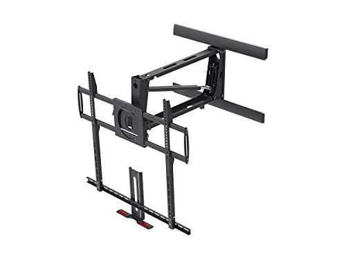- Monoprice Above Fireplace Pull-Down Full-Motion Articulating TV Wall Mount Bracket - for TVs 55in to 100in Max Weight 154lbs VESA Patterns Up to 800x400 Rotating Height Adjustable