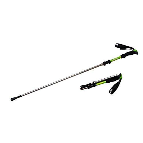 Alliage aluminium extérieur 5 extérieur pliable ultra-léger blocage poignée EVA canne bâton de marche , vert