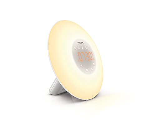 Philips Wake-Up Light Alarm Clock with Sunrise Simulation and Radio, White (HF3505) by Philips
