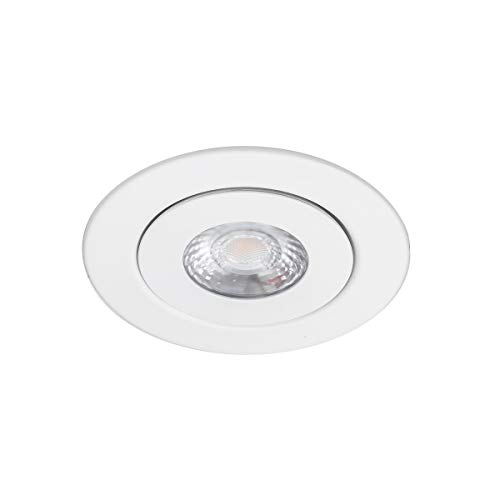 WAC Lighting R4ERAR-W930-WT Lotos 4in Round Adjustable Kit LED Recessed Light, 4