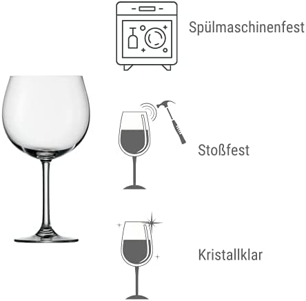 Stölzle Lausitz Weinland - Copa de Vino (108 mm, 6 Unidades)