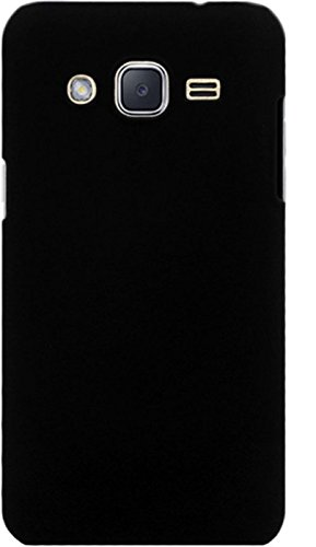 sports shoes 82541 d48e6 WOW Imagine™ Rubberised Matte Hard Case Back Cover for Samsung Galaxy J2  (2015) - Pitch Black