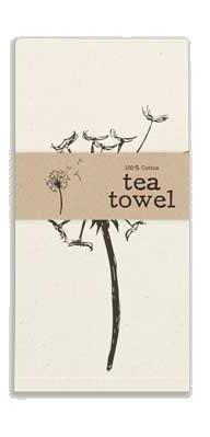 """Backroads Collection Cotton Tea Towel 20"""" X 28"""" (Dandelion)"""