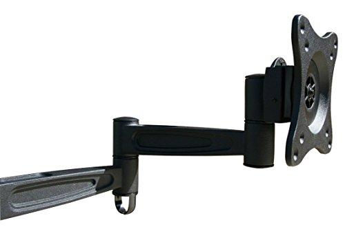 Black Full Motion Tilt Swivel Desk Monitor Mount Bracket