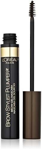 L'Oreal Paris Brow Stylist Plumper Brow Mascara, Medium to Dark 380, 0.27 Fluid Ounce