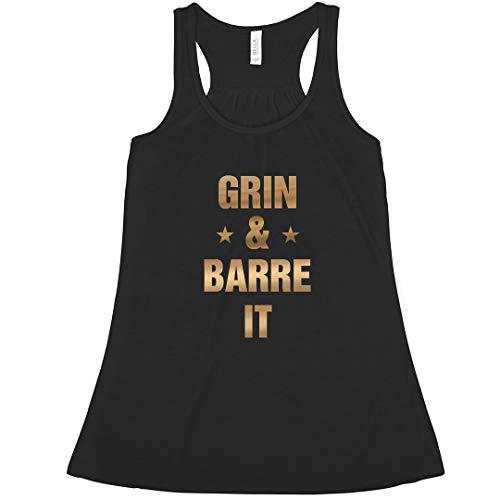 (Grin and Barre It Barre Workout: Bella Ladies Flowy Metallic Racerback Tank)