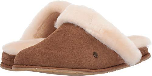 BEARPAW Women's Ladon Slipper Scuff (8 B(M) US, Hickory Suede) -