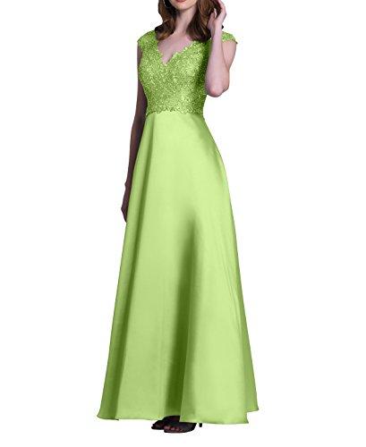Satin Spitze Charmant Brautmutterkleider Damen Abendkleider Abschlussballkleider A Langes Linie Salbei Festlichkleider Partykleider 6q7xxft