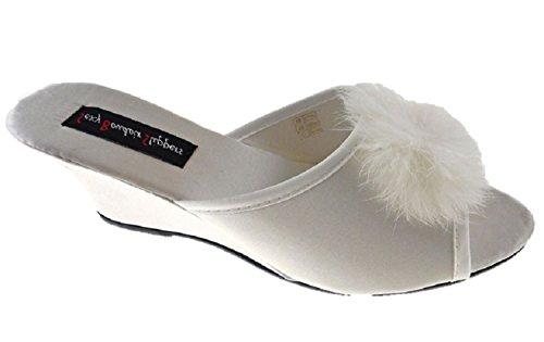 femme Sexy Chaussons pour Boudoir Blanc qttvz