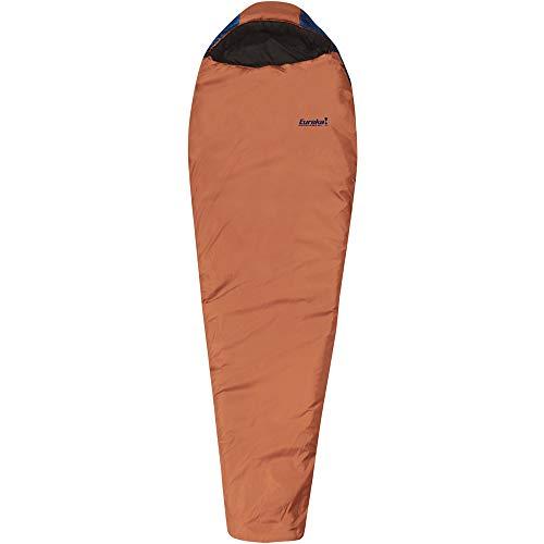 Eureka! Copper River 30-Degree, 3-Season Mummy Sleeping Bag, Regular Size, Brown/Blue (3 Pounds 7 Ounces)