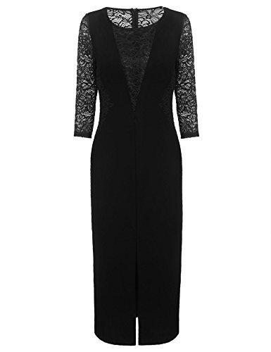 3/4 length evening dresses - 5