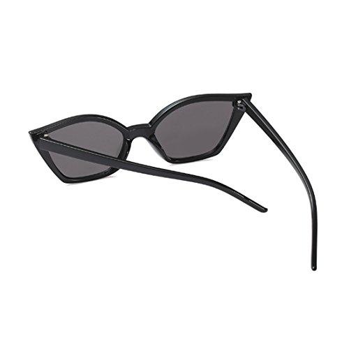 Moda sol gato gafas de de retro Negro pequeñas Vintage Brillante de Aiweijia ojo Moda resina gafas marco wIq8UU