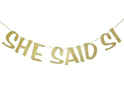 She Said Si Banner Final Fiesta Bachelorette Sign Mexico Bachelorette Party She Said Yes Garland Wedding Decorations Engagement Supplies Bridal Shower Party Decor Photo Booth Props Gold Glitter -