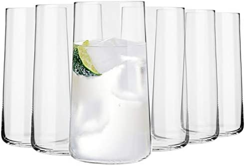 Krosno Grande Vasos de Agua Highball | Set 6 Piezas | 540 ML ...
