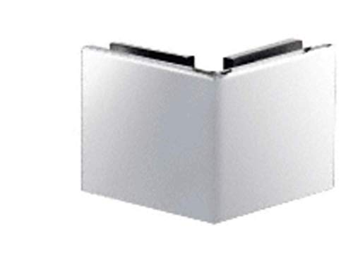 CRL Chrome Square Style 90 Degree Glass-to-Glass Clamp