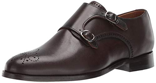 Marc Joseph New York Mens Leather Double Monk Wingtip Dress Shoe Oxford Café Brushed Napa 13 M US