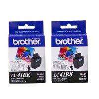 1840c Inkjet (Brother Black Ink Cartridge - 2 Pack (LC41BK2PKS) - Retail Packaging)