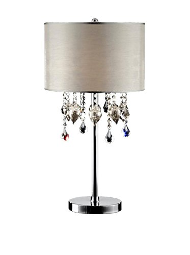 Ore International K-5125T Drape Crystal Table Lamp, 29