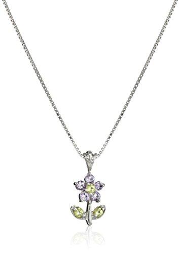 sterling-silver-gemstone-flower-pendant-necklace